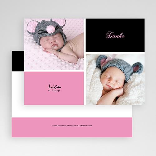 Dankeskarten Geburt Mädchen - Schlicht 18050 preview