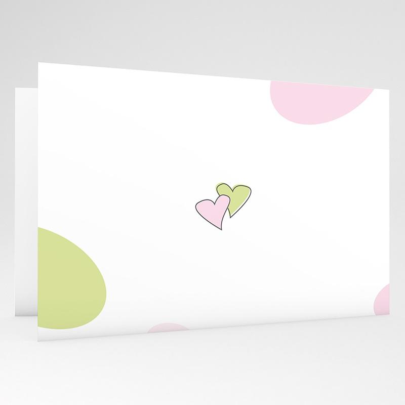 Hochzeitseinladungen ohne Foto Blumen in Pastell gratuit
