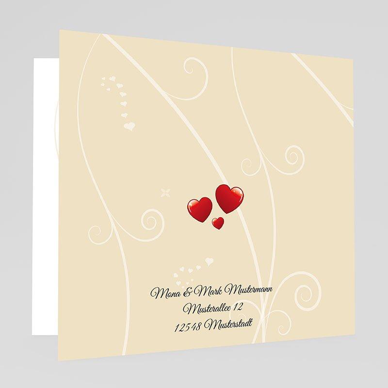 Herzform Hochzeitseinladungen Hochzeitsglocken gratuit