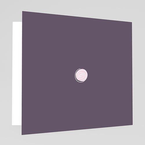 Violett Hochzeitseinladungen Zarte Blumen gratuit