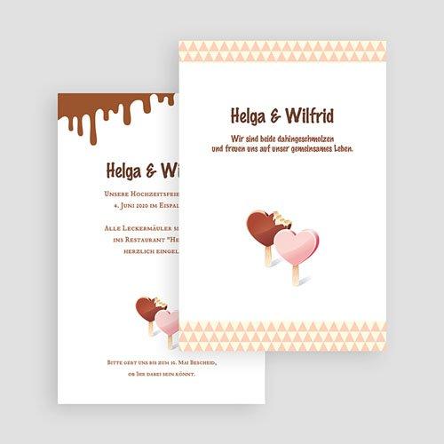 Einladungskarten Hochzeit  - Eis 18271 test