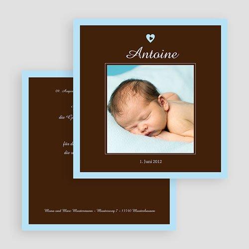 Geburtskarten für Jungen - Braun blau 18463 thumb