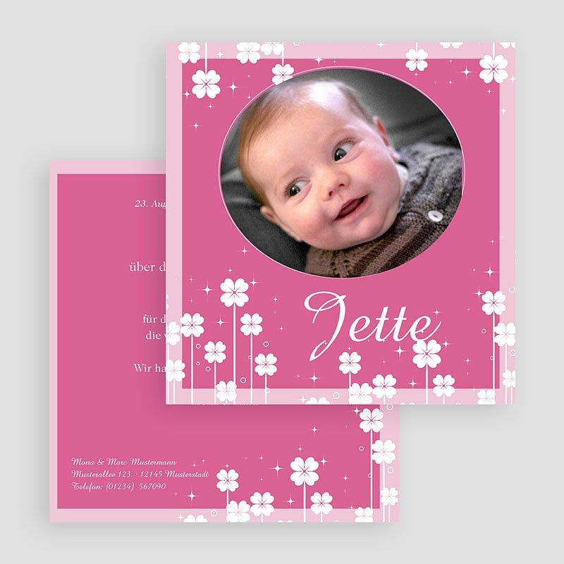 Geburtskarten für Mädchen Kleine Blume gratuit
