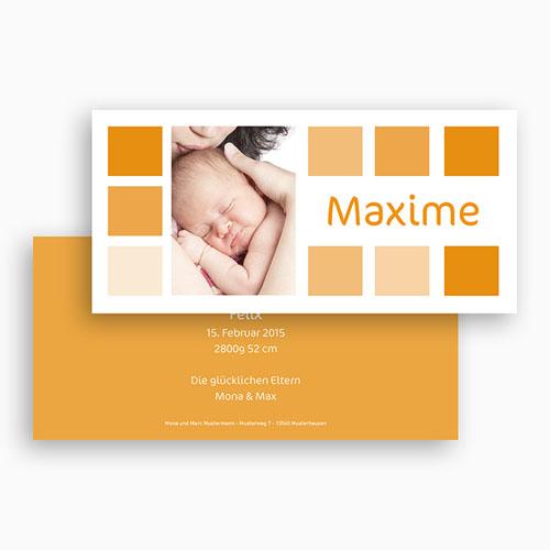Geburtskarten für Mädchen - Orangetöne 18499 preview