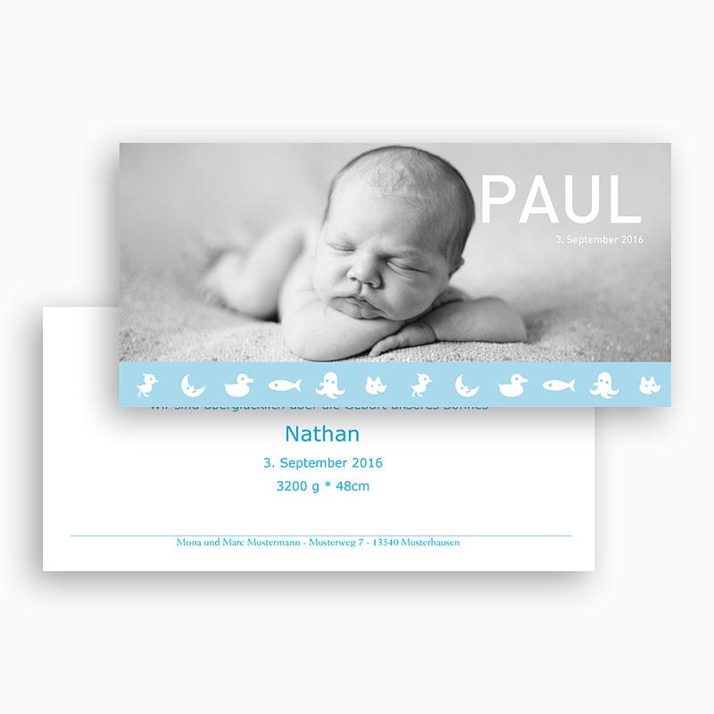 Geburtskarten für Jungen - Lennart 18501 thumb