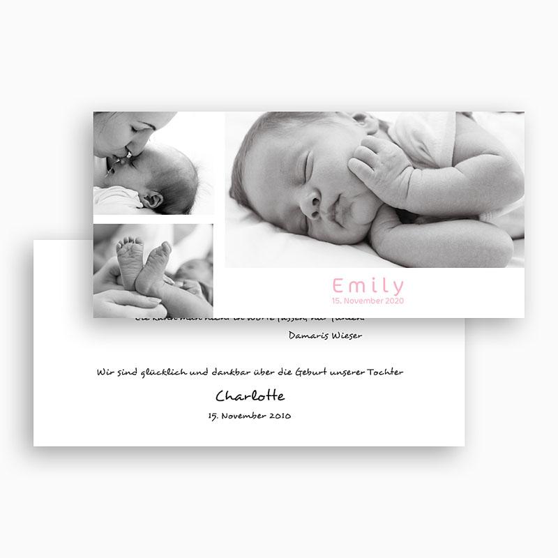 Geburtskarten für Mädchen - Farblich 18503 thumb
