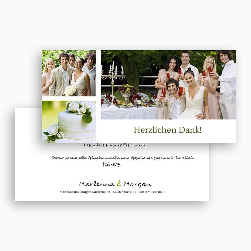 Danksagungskarten Hochzeit  Klassik gratuit