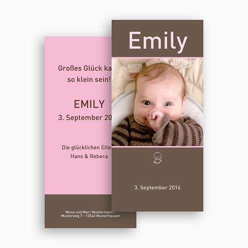 Geburtskarten für Mädchen - Portrait 18506 preview