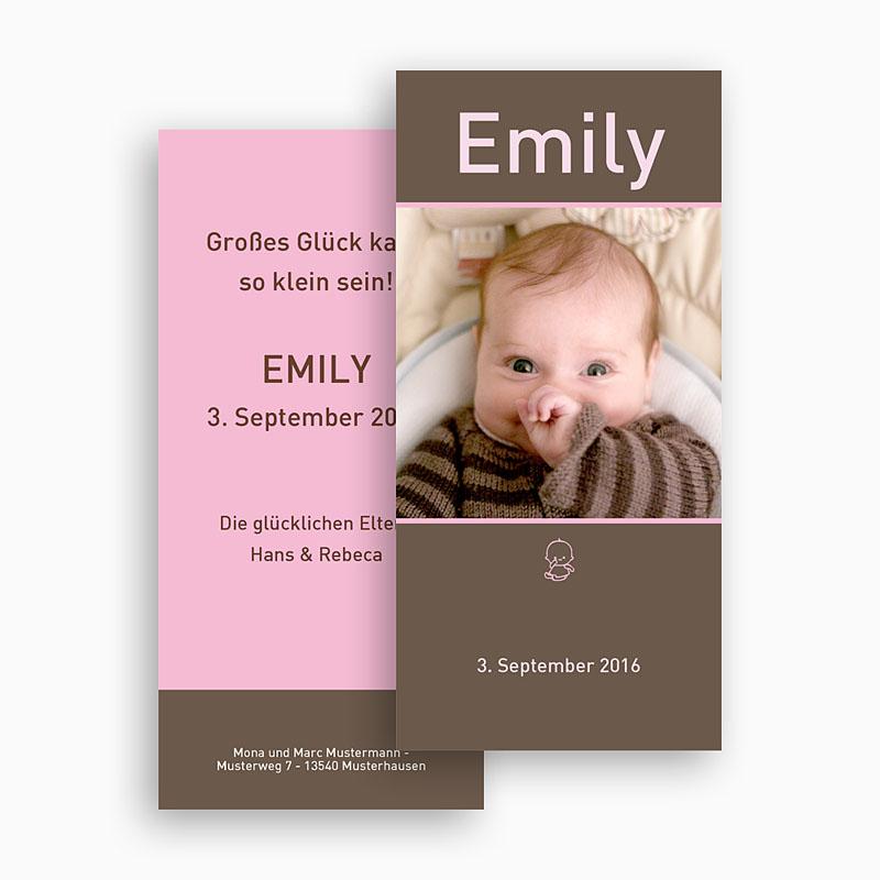 Geburtskarten für Mädchen - Portrait 18506 thumb