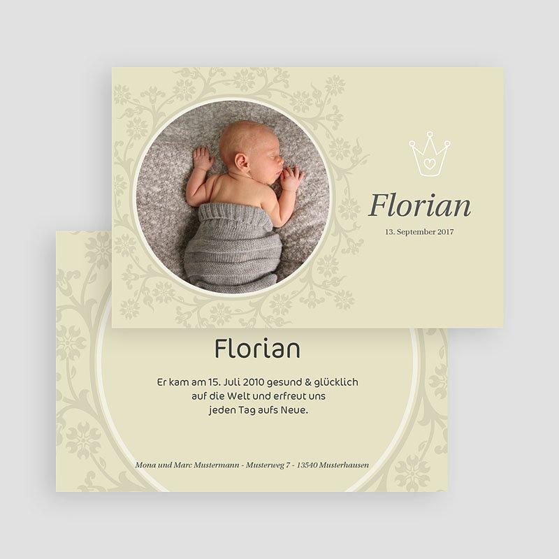 Geburtskarten für Mädchen Der kleine Prinz 3 gratuit