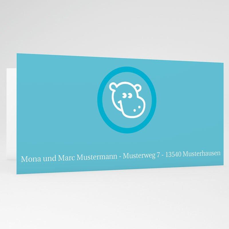 Geburtskarten für Jungen Nilpferd gratuit