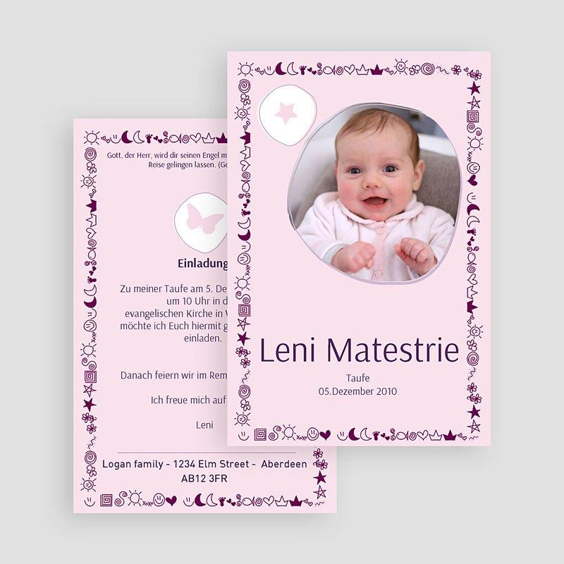 Geburtskarten für Mädchen Mond Sterne gratuit