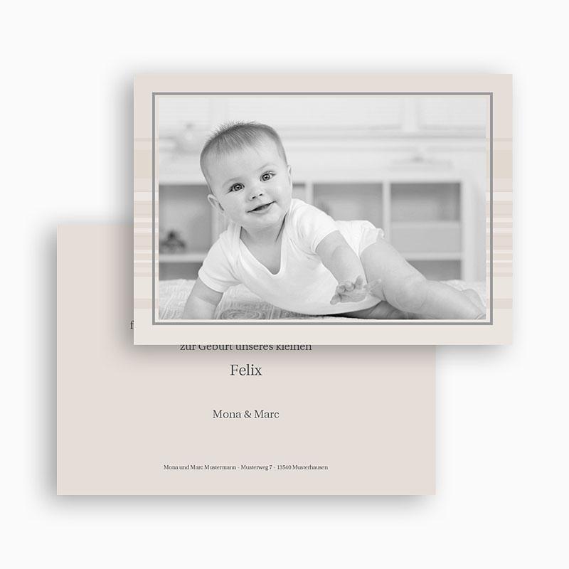 Dankeskarten Geburt Jungen - Luca 18550 thumb