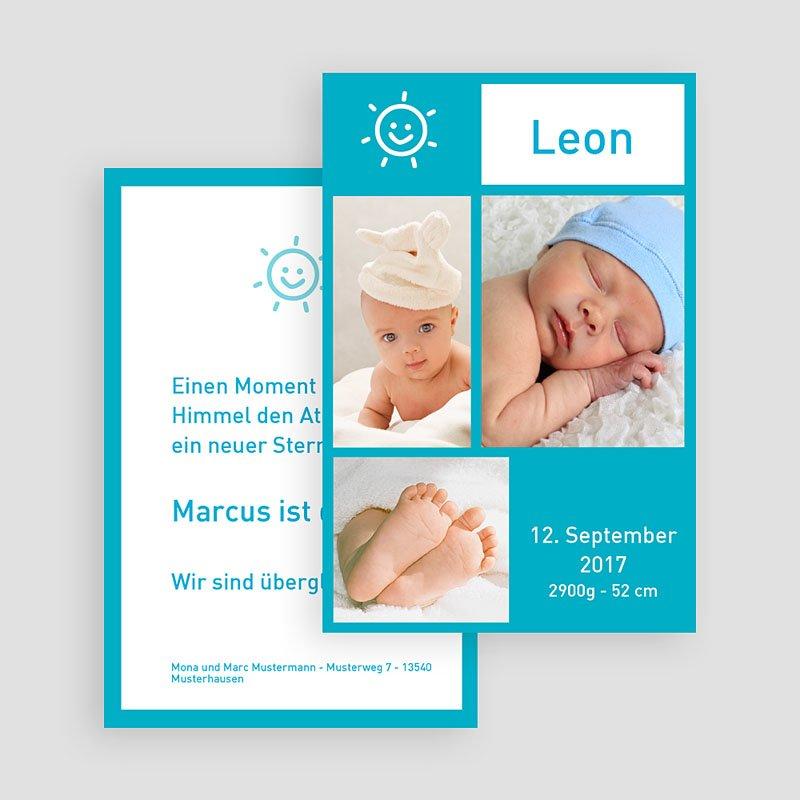 Geburtskarten für Jungen Fotoreich Miniatur gratuit