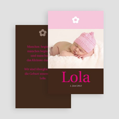Geburtskarten für Mädchen - Blumig verspielt 18553 thumb