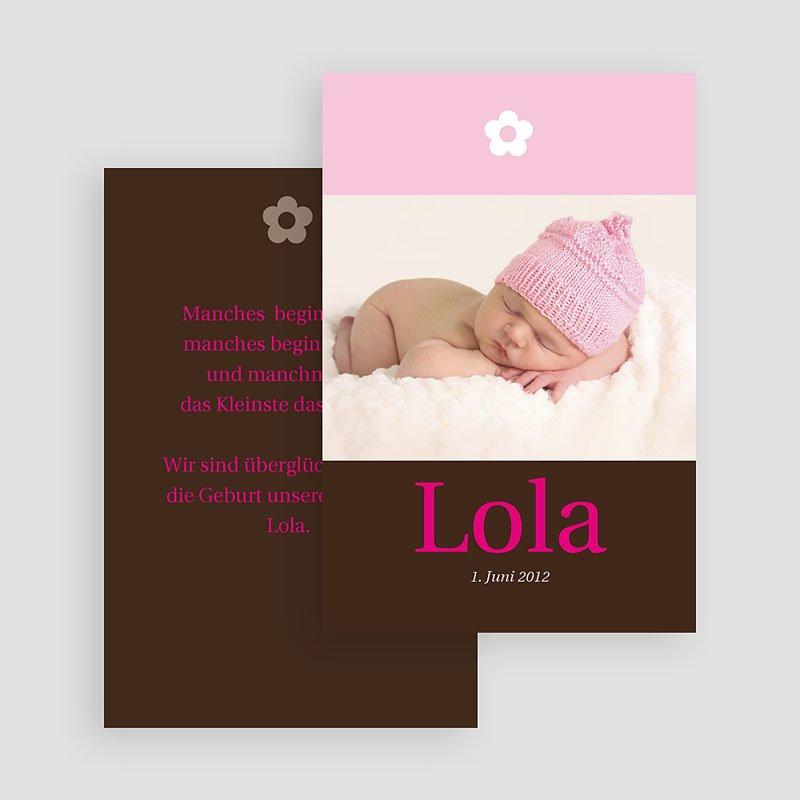 Geburtskarten für Mädchen Blumig verspielt gratuit