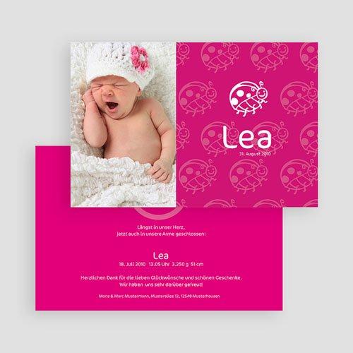 Geburtskarten für Mädchen Lucie Käfer gratuit