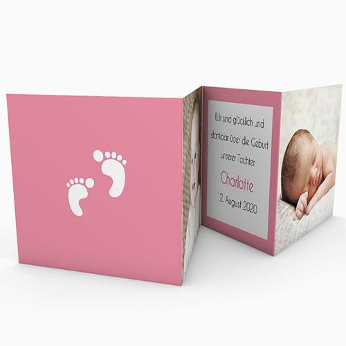 Geburtskarten für Mädchen - Leporello 18592 test
