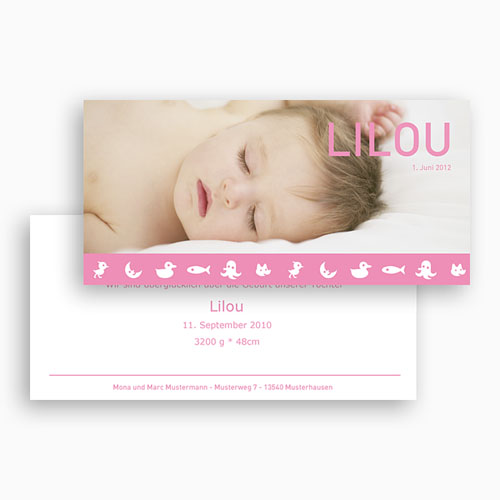 Geburtskarten für Mädchen - Lilou 18596 thumb