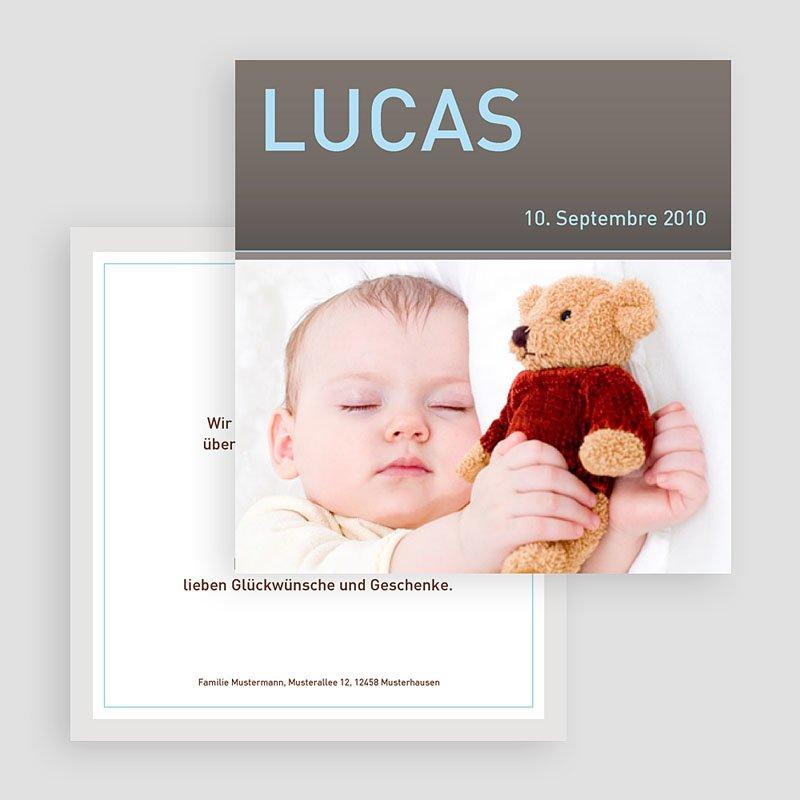 Geburtskarten für Jungen Lucas gratuit