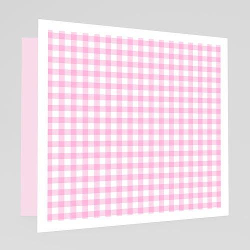 Geburtskarten für Mädchen - Vichy rosa 18598 preview