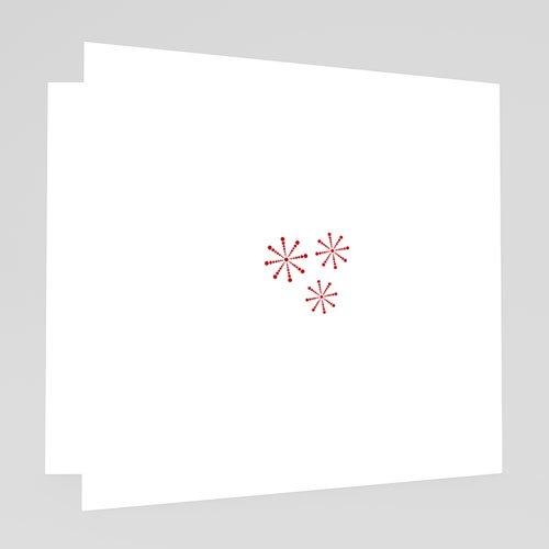 Weihnachtskarten - Karte Rot und Grau 18640 test