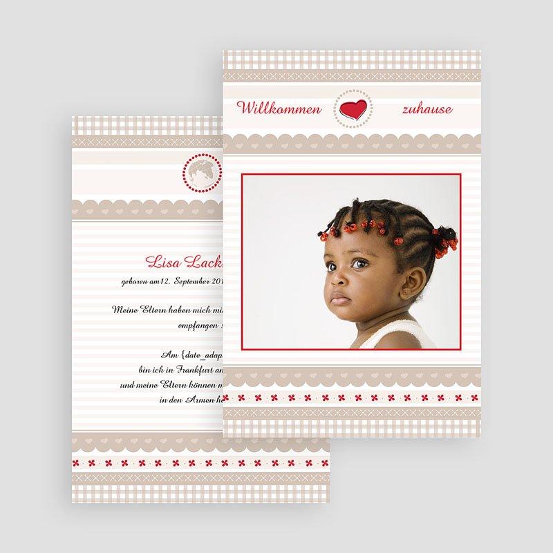 Adoptionskarten für Mädchen Pastell gratuit