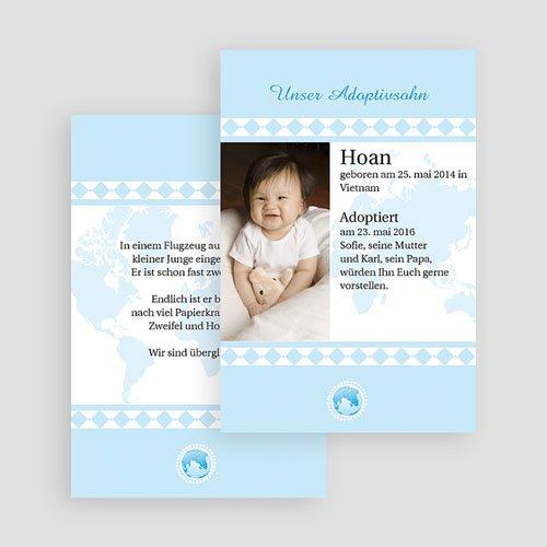 Adoptionskarten für Jungen - Liebe ohne Grenzen blau 18683 preview