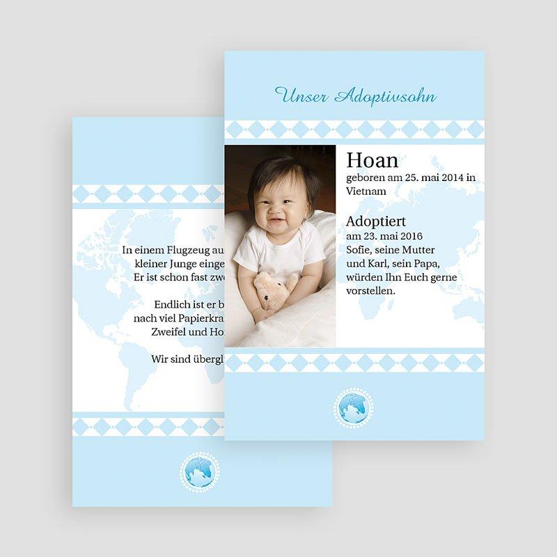 Adoptionskarten für Jungen Liebe ohne Grenzen blau gratuit