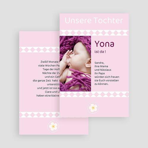 Adoptionskarten für Mädchen Liebe ohne Grenzen 1 gratuit