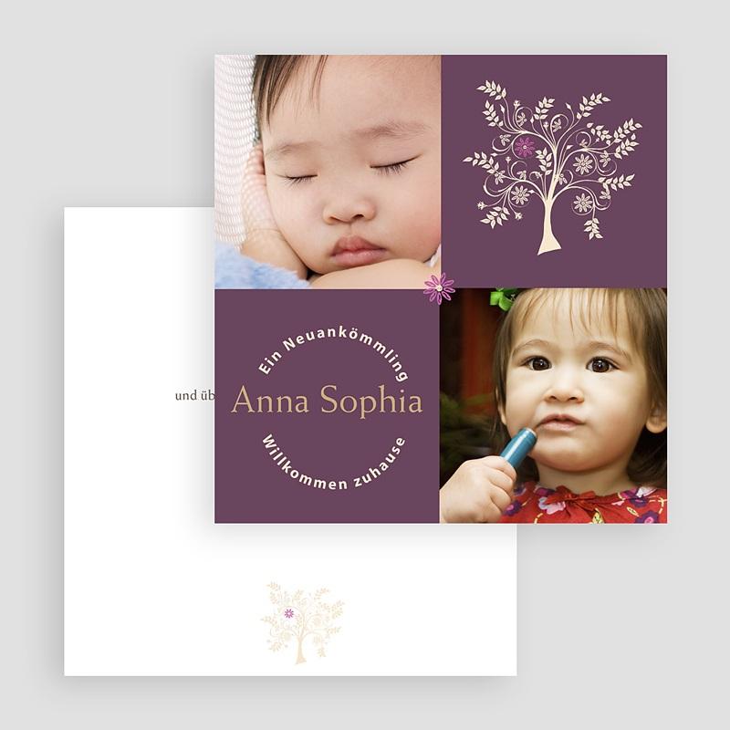 Adoptionskarten für Mädchen Braun baum gratuit