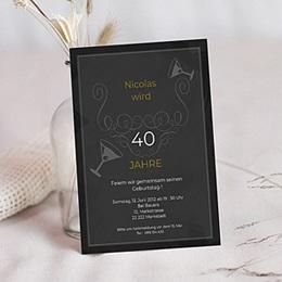 Einlegekarte Anniversaire adulte Birthday