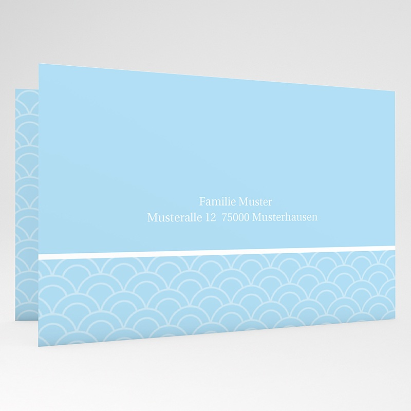 Einladungskarten Kommunion Jungen - Elegantes Kreuz 18740 thumb