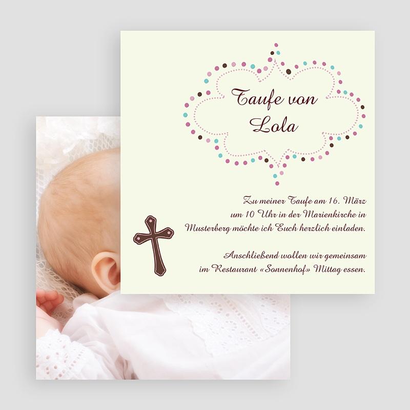 Einladungskarten Taufe für Mädchen Eve gratuit