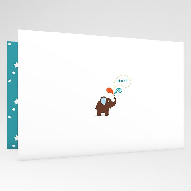 Geburtskarten für Jungen Elefant grau gratuit
