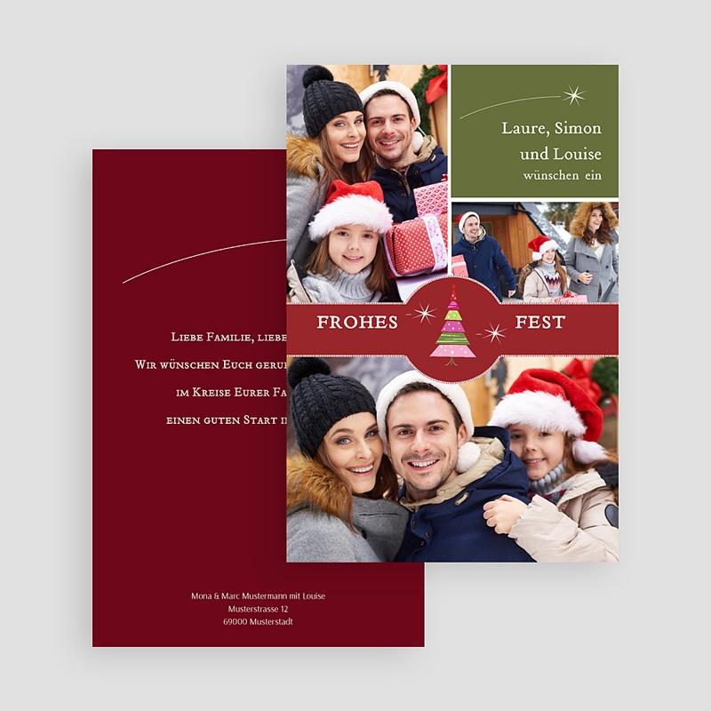 Weihnachtskarten Bescherung gratuit