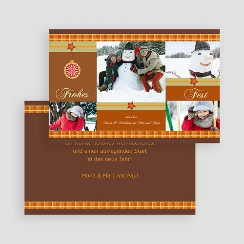 Weihnachtskarten - Weihnachtsmuster 19016 preview