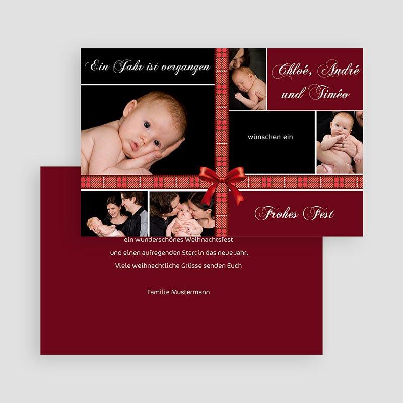 Weihnachtskarten  Dunkles Rot gratuit