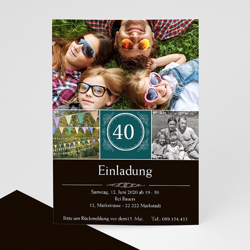 Erwachsener Einladungskarten Geburtstag Runde 40