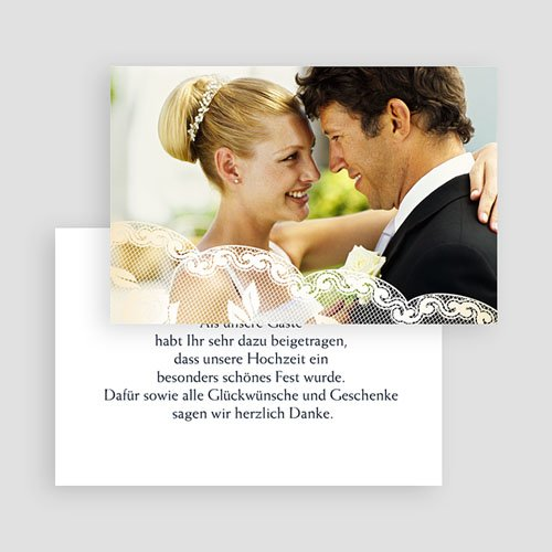 Hochzeitsdanksagung Romantisch - 3 thumb