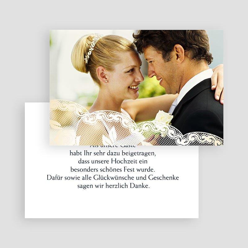 Danksagungskarten Hochzeit  Romantisch gratuit