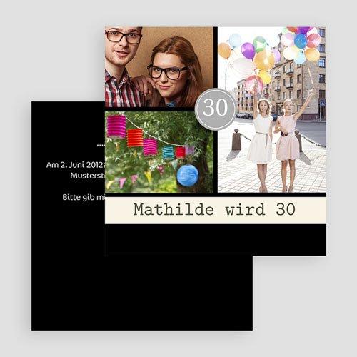 Erwachsener Einladungskarten Geburtstag Modern gratuit