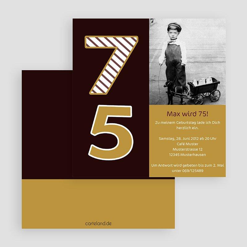 Erwachsener Einladungskarten Geburtstag 75 Jahre  gratuit