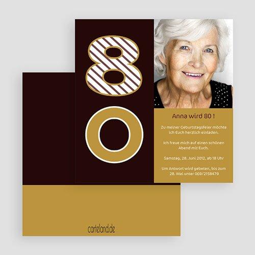 Erwachsener Einladungskarten Geburtstag Runde 80 gratuit