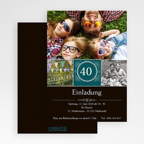 Erwachsener Einladungskarten Geburtstag Runde 40 gratuit