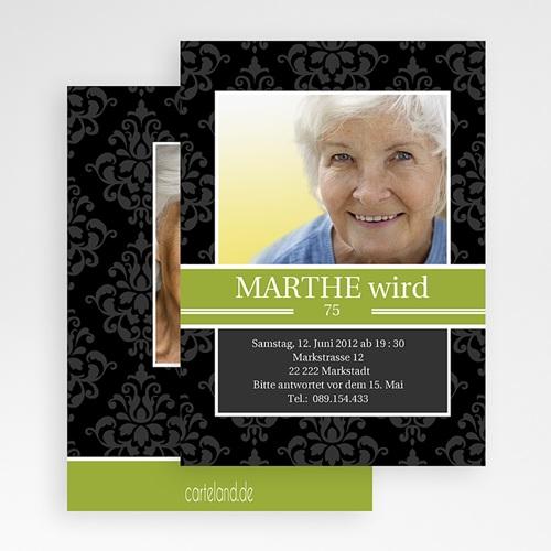 Erwachsener Einladungskarten Geburtstag Marthe gratuit
