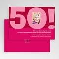 Runde Geburtstage - 50 Jahre rosa 19272 test