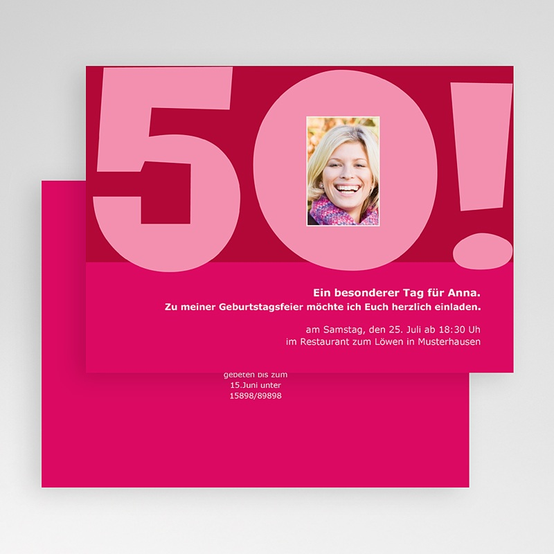 Runde Geburtstage - 50 Jahre rosa 19272 thumb
