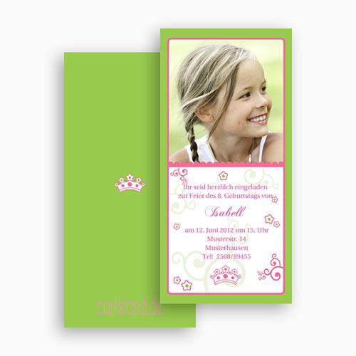 Geburtstagseinladungen Mädchen - Frühlingsfarben 19277 thumb
