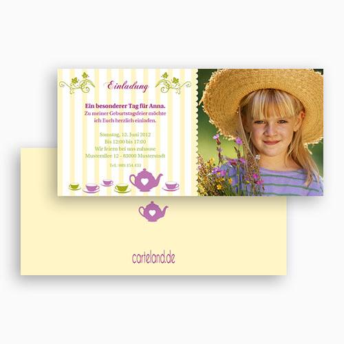 Geburtstagseinladungen Jungen - Blumen 19279 test